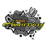 Happy Anniversary doodles. Vector Illustration on white background. EPS file available. see more images related Royalty Free Stock Photos