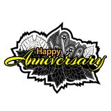 Happy Anniversary doodles. Vector Illustration on white background. EPS file available. see more images related Stock Photography
