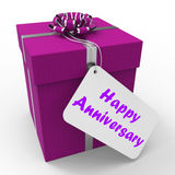 Happy Anniversary Gift Shows Celebrating Years Royalty Free Stock Image