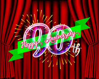 Happy anniversary glass bulb numbers set Royalty Free Stock Image