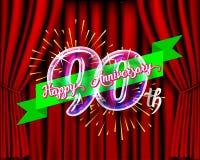 Happy anniversary glass bulb numbers set