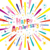 Happy Anniversary greeting card Royalty Free Stock Photo