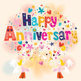 Happy Anniversary. Greeting card design Stock Photos