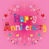 Happy Anniversary greeting card Stock Images