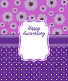 Happy Anniversary Greeting Card in Purple colour Royalty Free Stock Photo