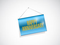 Happy anniversary hanging banner Stock Images