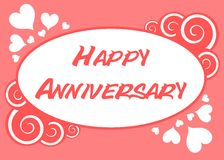 Happy anniversary. Image usable as greeting card for all kind of anniversary Stock Photography