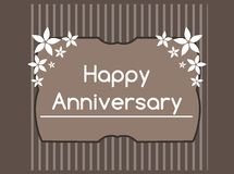 Happy anniversary greeting card in green tones Royalty Free Stock Photo