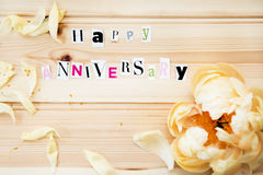 Happy Anniversary Royalty Free Stock Photography