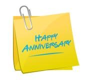 Happy anniversary memo post Stock Photo