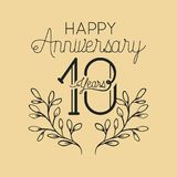Happy anniversary number 10 with wreath crown. Vector illustration design Stock Illustration