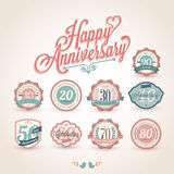 Happy anniversary premium quality labels Royalty Free Stock Photo