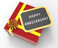 Happy Anniversary Present Means Romantic Royalty Free Stock Photo