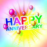 Happy Anniversary Represents Cheerful Greeting And Celebrate Royalty Free Stock Photos