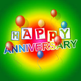 Happy Anniversary Represents Fun Joy And Celebrations Royalty Free Stock Image