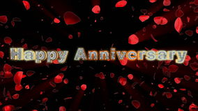 Happy Anniversary, rose heart exploding stock footage