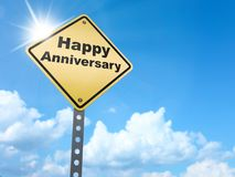 Happy anniversary sign stock illustration