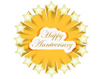 happy anniversary stars seal illustration Stock Photography