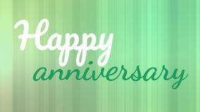 Happy anniversary text. Digitally animated happy anniversary text on green background stock footage