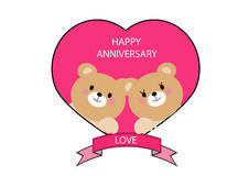 Happy anniversary vector bear Stock Images