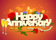 Happy Anniversary wallpaper background Stock Image