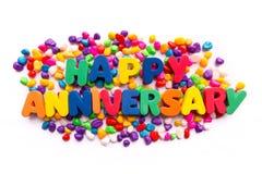 Happy anniversary Stock Photography