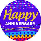 Happy Anniversary. You must be happy!. Celebrate with this card as a complement to your future Stock Illustration