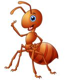 Happy ant cartoon Royalty Free Stock Photos