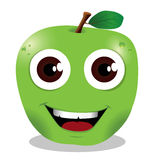 Happy apple cartoon Stock Images