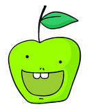 Happy apple draw Royalty Free Stock Images