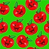 Happy Apple Seamless Pattern Royalty Free Stock Photos