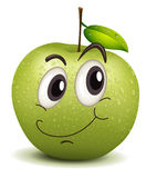 Happy apple smiley Stock Photo