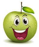 Happy apple smiley Stock Images