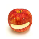 Happy apple smiling face Stock Image