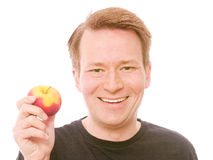 Happy apple Stock Image