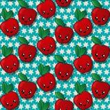 Happy apples pattern Stock Image