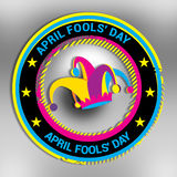 Happy April Fools' Day. Happy April Fools' Day as a colorful seal or badge Stock Image