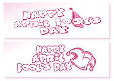 Happy April Fools Day. Set banners for April first. Happy April Fool`s Day. Set banners for April first. Vector illustration Royalty Free Stock Images