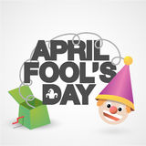 Happy April Fools` Day typographical background. Royalty Free Stock Photo