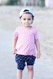 Happy arab baby girl stock images