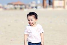 Happy arab baby girl stock image