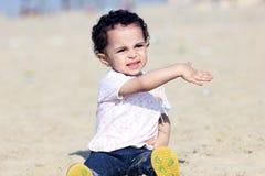 Happy arab baby girl royalty free stock photography