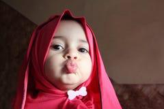 Happy arab egyptian muslim baby girl Royalty Free Stock Photography