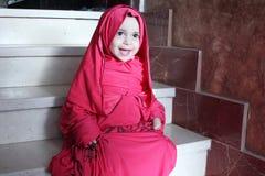 Happy arab egyptian muslim baby girl Stock Image