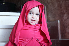 Happy arab egyptian muslim baby girl Royalty Free Stock Images