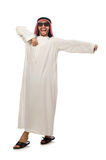 Happy arab man isolated on white Stock Photo