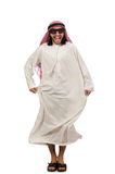 Happy arab man isolated on white Royalty Free Stock Images