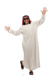 Happy arab man isolated on white Royalty Free Stock Photography