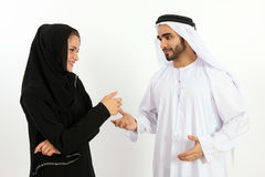 Happy Arab Man & Woman Stock Photos