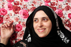 Happy arab muslim woman Stock Photography